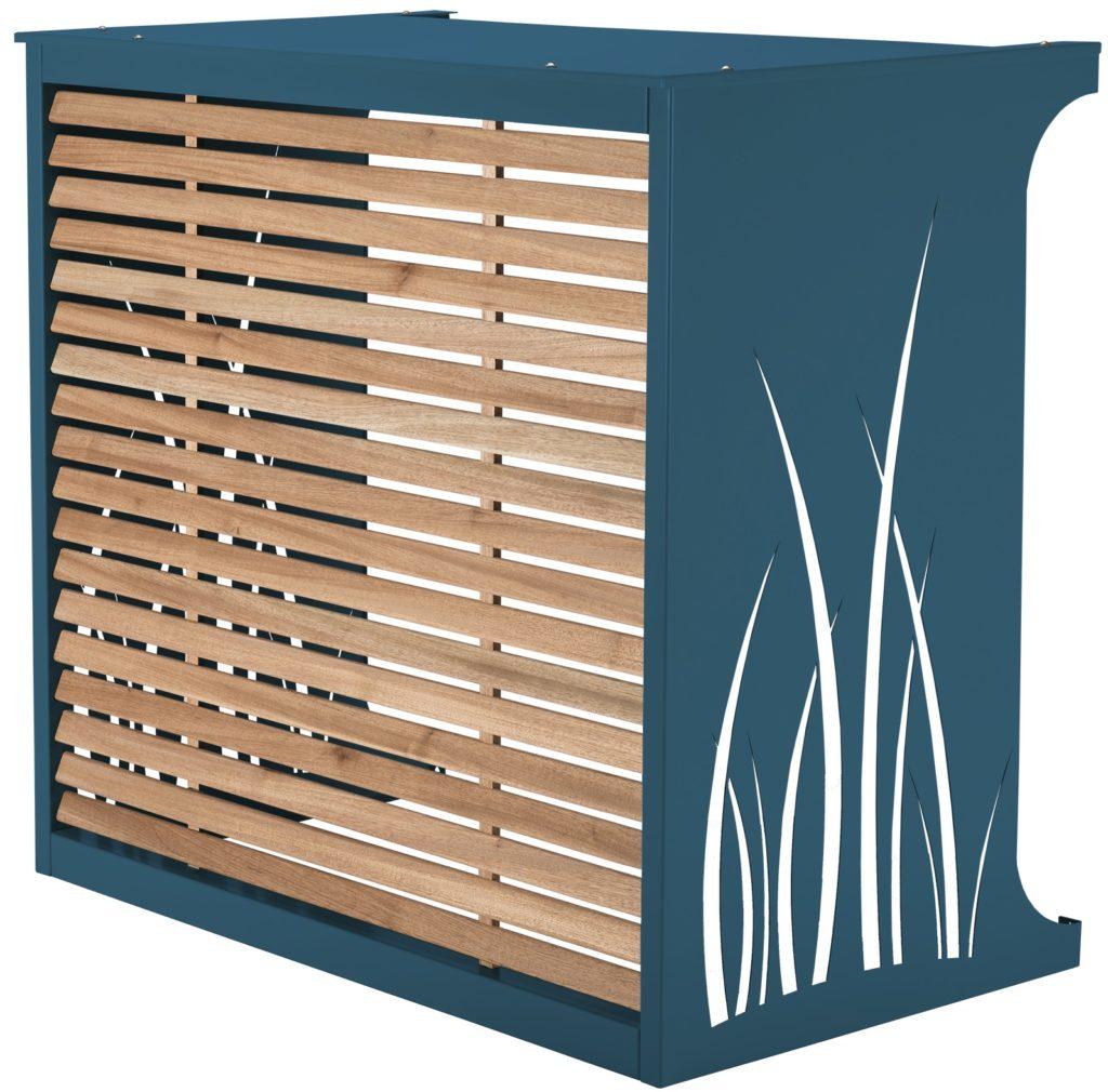 Cache climatisation - coloris gris bleu