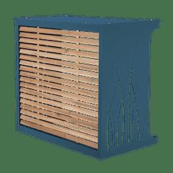 Cache climatisation bleu