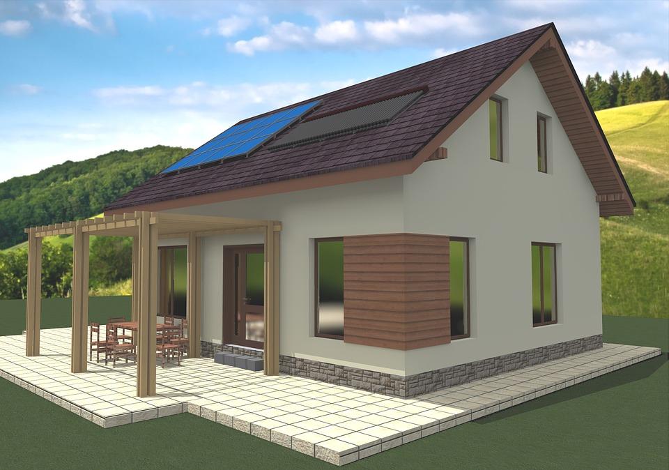 plan 3D de maison passive