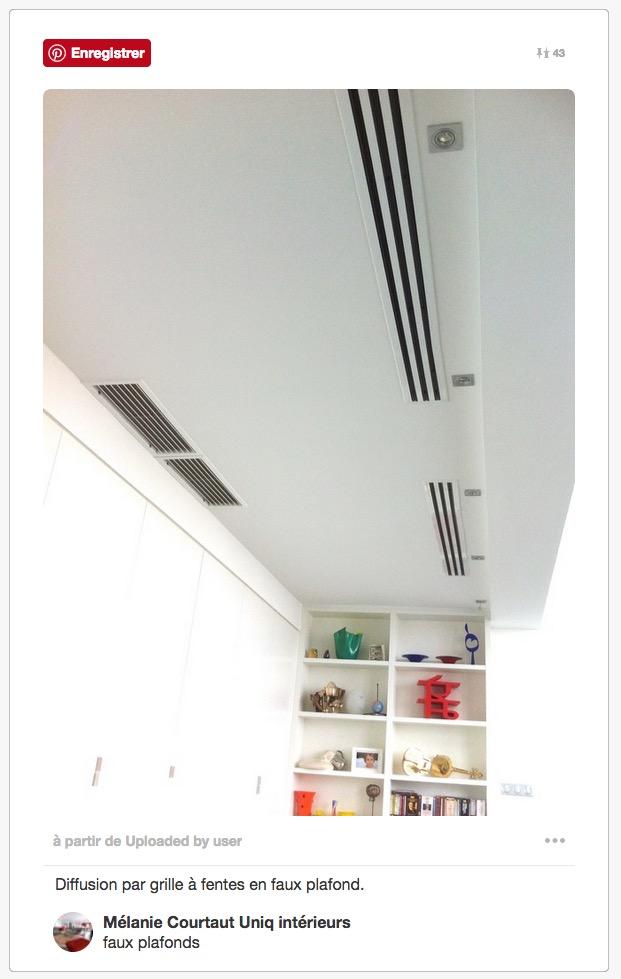 faux plafond split clim