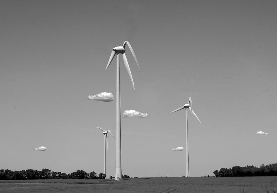 éolienne sous la canicule