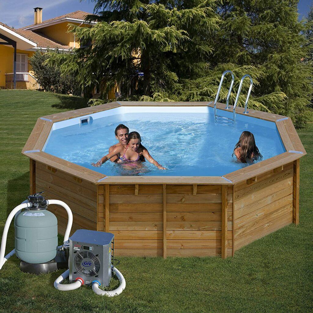 petite pompe à chaleur de piscine hors-sol